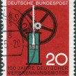 ������, ������: Postage stamp printed in Germany dedicated to the 100th anniversary of German internal combustion engine Nikolaus August Otto and Eugen Langen