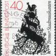 Postage stamp printed in Germany, shows Illustration from The Town Band of Bremen (folktale) — Stock Photo #53121343