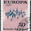 "Postage stamp printed in Germany, shows the abstract symbols and the word ""Europe"" — Stock Photo #53123009"