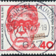 Postage stamp printed in Germany, shows the Maximilian Kolbe, Polish priest who died in Auschwitz and was beatified in 1971 — Stock Photo #53123677