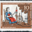 "Postage stamp printed in Germany, shows the illustration of the Brothers Grimm tale ""Mother Hulda"" — Stock Photo #53123899"