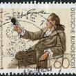 Postage stamp printed in Germany, shows Johann Wolfgang von Goethe, by Georg Melchior Kraus — Stock Photo #53123933