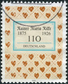 Postage stamp printed in Germany, dedicated to the 125th anniversary of the birth of the poet Rainer Maria Rilke — Stockfoto