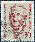 Postage stamp printed in Germany, shows the Ernst Moritz Arndt, historian, poet and member of German National Assembly — Stock Photo