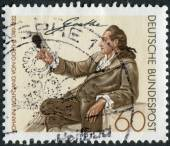 Postage stamp printed in Germany, shows Johann Wolfgang von Goethe, by Georg Melchior Kraus — Stock Photo