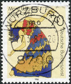 Postage stamp printed in Germany, shows a Mary Wigman, dancer, choreographer and dance teacher — Stock Photo