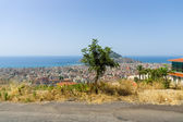 Alanya and the Mediterranean Sea from the bird's-eye view. Turkey. — Stock Photo