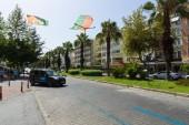Boulevard. Alanya is a popular Mediterranean resort — Stock Photo