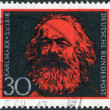 Postage stamp printed in Germany, shows portrait of Karl Heinrich Marx, a German philosopher, economist, sociologist, historian, journalist, and revolutionary socialist — Stock Photo #53430937