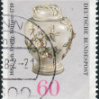 Postage stamp printed in Germany, dedicated to the 300th anniversary of Johann Friedrich Bottger, originator of Dresden china, shown Pear-shaped Pot with Lid — Stock Photo #53431089