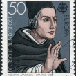 Postage stamp printed in Germany, shows portrait of Albertus Magnus, saint and doctor of the Church — Stock Photo #53431113