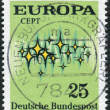 "Postage stamp printed in Germany, shows the abstract symbols and the word ""Europe"" — Stock Photo #53431677"