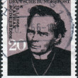Postage stamp printed in Germany, shows a Swedish clergyman, Archbishop of Uppsala in the Church of Sweden, and recipient of the 1930 Nobel Peace Prize, Nathan Soederblom — Stock Photo #53959307