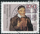 Postage stamp printed in Germany, dedicated to the 150th anniversary of Vincent Conferences in Germany — Zdjęcie stockowe
