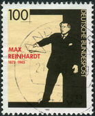 Postage stamp printed in Germany, shows a film actor and director, Max Reinhardt — Stockfoto