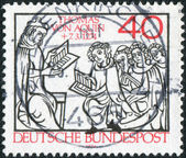 Postage stamp printed in Germany, dedicated to St. Thomas Aquinas scholastic philosopher — 图库照片