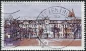 Postage stamp printed in Germany, Issue: Parliaments of the federal states in Germany, shows State diet of Saxony-Anhalt, Magdeburg — Stock Photo