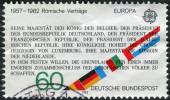 Postage stamp printed in Germany, dedicated to the 25th anniversary of Treaty establishing the European Economic Community (Treaty of Rome) — Stockfoto
