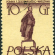 Постер, плакат: Postage stamp printed in Poland shows a monument to Soviet statesman Polish and Russian revolutionary Felix Dzerzhinsky Warsaw