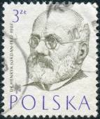Postage stamp printed in Poland, shows a portrait of a Polish philanthropist, physician and pioneer of physical education in Poland, Henryk Jordan — Stockfoto