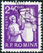 Postage stamp printed in Romania shows Chemist — Stock Photo