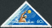 Postage stamp printed in Hungary dedicated to Hungarian Victories in Water Sports at Tampere and Belgrade, shows Water Polo — Stock Photo