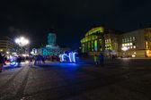 Gendarmenmarkt square in the night illumination. The annual Festival of Lights 2014 — Stock Photo