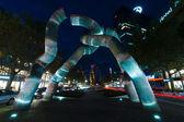 "A view of the sculpture ""Broken chain"", by sculptors Brigitte Matschinsky-Denninghoff and Martin Matschinsky and street Kurfuerstendamm and Tauentzienstrasse — Stock Photo"