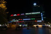 Europa-Center is a building complex on the Breitscheidplatz, symbol of West Berlin during the Cold War. The annual Festival of Lights 2014 — Stock Photo