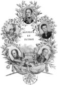 """Portraits of the generals of Emperor Napoleon I. Publication of the book """"A Century in the text and pictures"""", Berlin, Germany, 1899 — Stock Photo"""