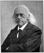 "Portrait of a German classical scholar, historian, jurist, journalist, politician, archaeologist, Theodor Mommsen. Publication of the book ""A Century in the text and pictures"", Berlin, Germany, 1899 — Стоковое фото"