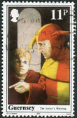 Postage stamp printed in UK (Guernsey), shows William the Conqueror, King of England — Stock Photo