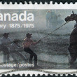 "Postage stamp printed in Canada, dedicated to Centenary of the founding of Calgary, shows the ""Untamed"" (Wild Horse Race) — Stock Photo #57683329"