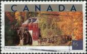 Postage stamp printed in Canada shows Tourist Attractions - Kings Landing, New Brunswick — Stock Photo