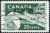 Postage stamp printed in Canada, dedicated to Paper Industry, shows the Pulp and Paper — Zdjęcie stockowe