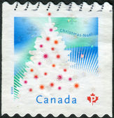 Postage stamp printed in Canada, shows Christmas Tree — Stock Photo