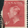 Postage stamp printed in Canada, a portrait of King George VI — Stock Photo #57761997