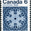 Postage stamp printed in Canada, Christmas issue, shows Snowflake — Stock Photo #57762057