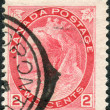 Postage stamp printed in Canada, a portrait of Queen Victoria — Stock Photo #57762277