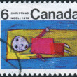 Postage stamp printed in Canada, Christmas issue, shows Christ Child — Stock Photo #57762385