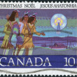 Postage stamp printed in Canada, Christmas Issue, shows Hunters Following Star — Stock Photo #57767199