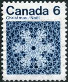 Postage stamp printed in Canada, Christmas issue, shows Snowflake — Stock Photo