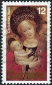 Postage stamp printed in Canada, shows the Madonna of the Flowering Pea, Cologne School — ストック写真