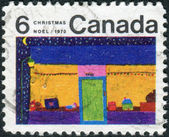Postage stamp printed in Canada, Christmas issue, shows Toy Store — Stock Photo