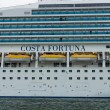 Detail of a cruise liner Costa Fortuna. Costa Fortuna is a cruise ship Destiny-class, Length 273 m, capacity of 2720 passengers. — Stock Photo #57958817