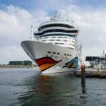 AIDAmar at berth Warnemunde. AIDAmar is a Sphinx class cruise ship, length 253 m, capacity of 2686 passengers — Stock Photo #57958883