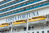 Detail of a cruise liner Costa Fortuna. Costa Fortuna is a cruise ship Destiny-class, Length 273 m, capacity of 2720 passengers. — Stock Photo