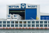 Neptun Werft is a German shipbuilding company, headquartered in Rostock. Rostock is Germany's largest Baltic port — Stock Photo