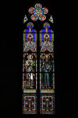 Stained glass window of St. Ludmila Church (St. Ludmila of Bohemia) — Photo