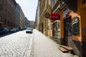 Street and everyday life of the city. Prague is the capital and largest city of the Czech Republic. — Stock Photo